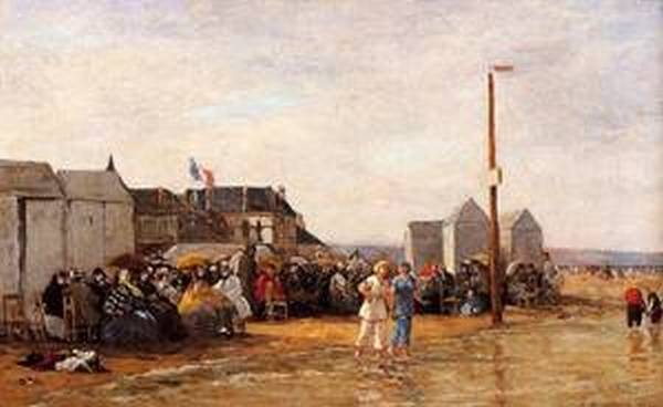 The Bathing Hour at Trouville 1864